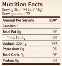 Seasonest Soul Food Spicy Spice Blend Nutrition Facts