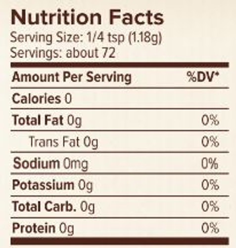 Seasonest Best Friend Spice Blend Nutrition Facts