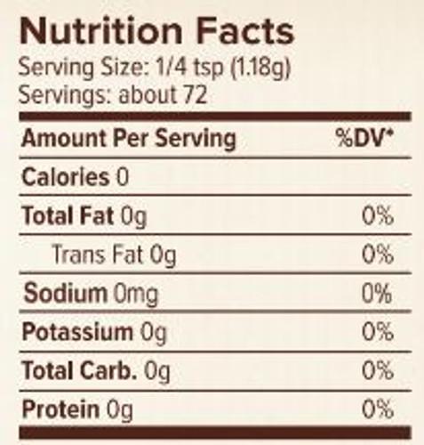 Seasonest Curry Mild Spice Blend Nutrition Facts