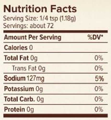 Seasonest Mild Spice Blend Nutrition Facts