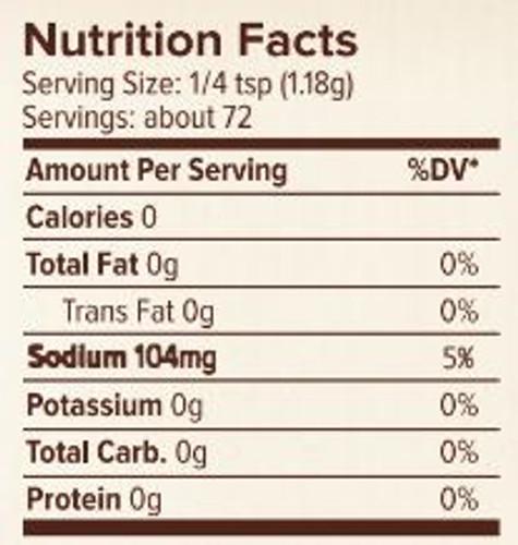 Seasonest Lemon Pepper Spice Blend Nutrition Facts