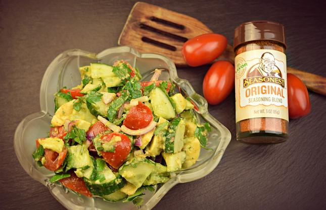 Hearty Garden Salad With Avocado Recipe