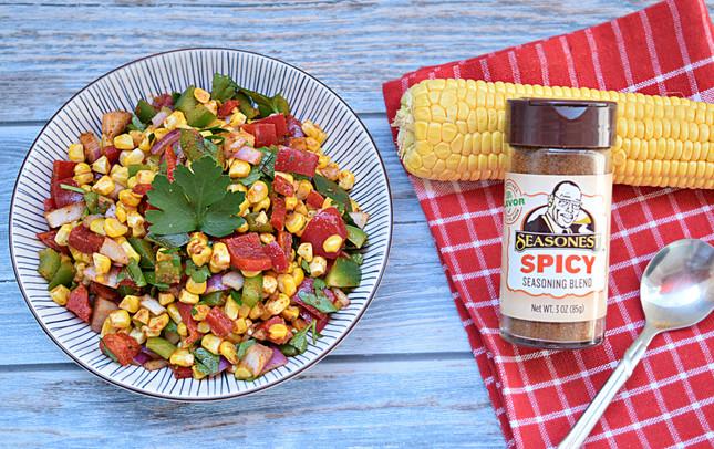 Spicy Grilled Corn Salad Recipe