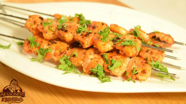 Adobo Grilled Shrimp Skewers Recipe