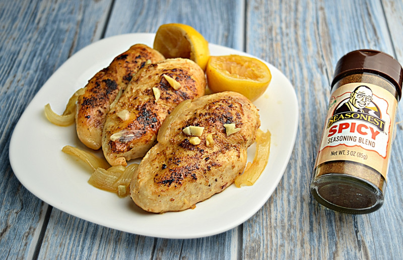 Spicy Slow Cooker Brown Sugar, Garlic, and Lemon Chicken Breasts