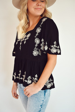 Tiffany Embroidered Top