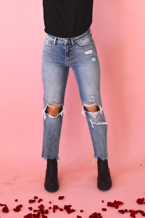 Miles Apart Straight Jean