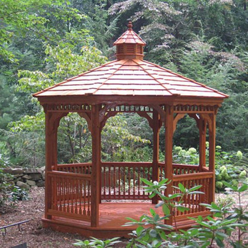 10' Octagon Wood Gazebo #01