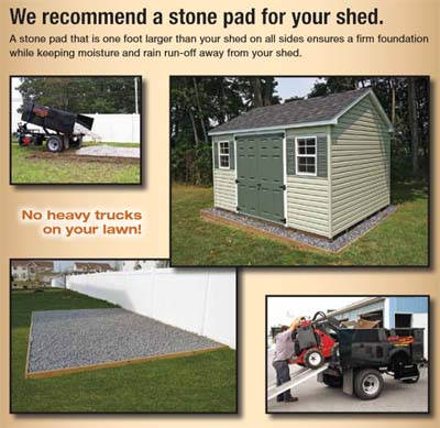 Stone Pad Foundation Recommended for Shed