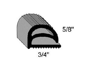 (J5-2) Compression P10338-PF Gasket per foot
