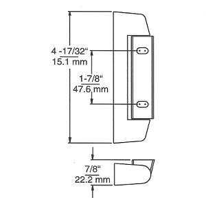 (E1-5a) Kason 0211 Slimline hinge