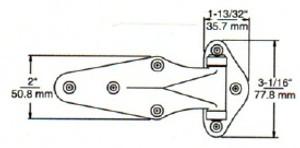 (D8-7a) Kason 1070-32 Hinge 7/8 offset surface mount