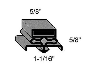 (I8-9) Magnetic MG060-8 Gasket material 8' strip