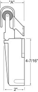 (C2-7) R55-1010 Door closer flush