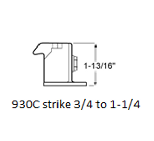 (D5-4) Kason 930C latch 3/4 to 1-1/4