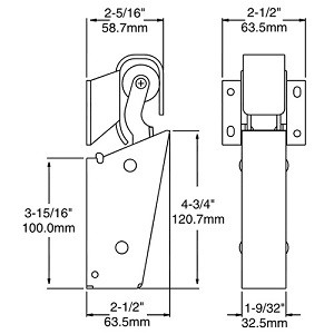 (B3-2) Kason 1095-02 Door closer 1-1/8 offset