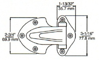 "(D8-3) Kason 139 Surface Mount Hinge 1-1/8"" Offset"