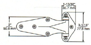 (D8-4) Kason 1070-04 Hinge Flush