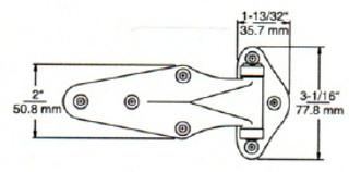 (D8-6) Kason 1070-03 Hinge 3/4 offset