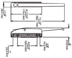 (D3-4) Kason 171 latch handle complete