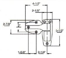(A8-1) Kason 1246 Hinge Flush