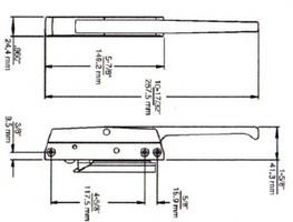(D3-7) Kason 172C Latch w/lock complete