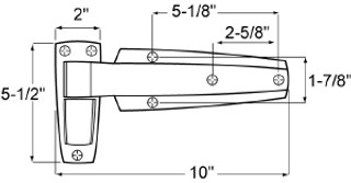 (C1-9) W60-1125 Cam lift hinge 1-1/4 offset (CHG)