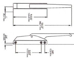 (D3-8) Kason 174 Latch w/strike