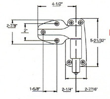 (A8-9) Kason 1249 Hinge Spring Assisted Flush