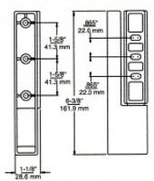 (E1-1) Edgemount Cam-Lift Hinge 1-1/4 to 1-5/8 Offset