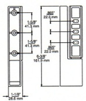 (E1-2) Edgemount Cam-Lift Hinge 1-3/4 to 2-3/8 Offset