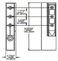 (E1-3) Kason 1267 Edgemount Cam-Lift Hinge 1-5/8 to 2-3/8 offset