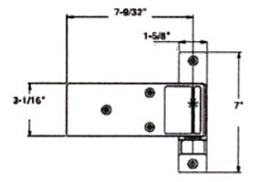(A9-3) Kason 1256 Flush Cam lift hinge Brushed