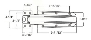 (A4-3) Kason 55 latch complete 1 to 1-3/4 offset