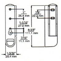 (E1-5) Kason 215 Hinge 1-1/4 offset Edgemount Cam-Lift
