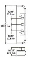"(E1-6) Kason 212-4 Edgemount Hinge 7/8"" Offset"