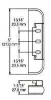 "(E1-7) Kason 212-8 Edgemount Hinge 1-1/8"" Offset"