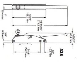 (D5-1) Kason 538C Edgemount latch w/key complete