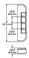 "(E1-9) Kason 214-4 Edgemount Hinge 7/8"" Offset"