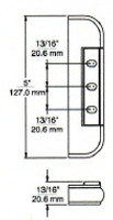 "(E2-1) Kason 214-08 Edgemount Hinge 1-1/8"" Offset"