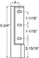 (E3-4) Component hardware R50-2851 Spring assisted hinge 1-1/4 offset