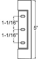 (E3-5) Component hardware R42-2842 Reversible Hinge 1-1/4 offset