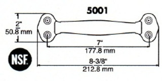(D7-5)Polar 815 Pull handle chrome