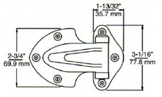 (D7-8b) Kason 0139 Door hinge 3/8 offset
