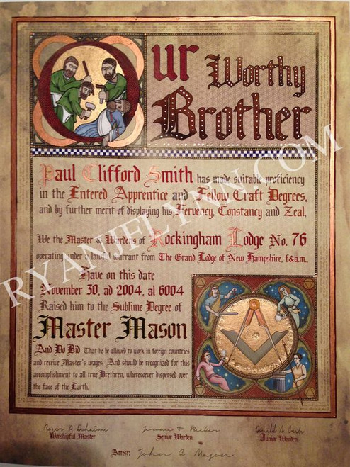The Regius Master Mason Patent - Illuminated
