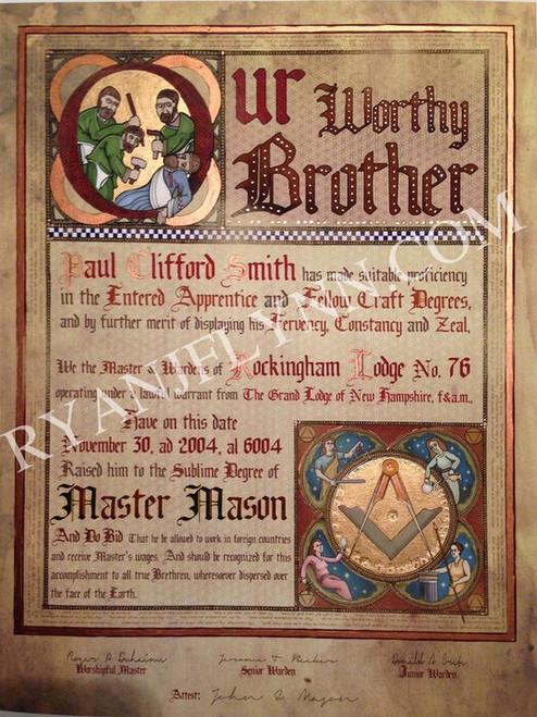 The Regius Master Mason Patent - Illuminated