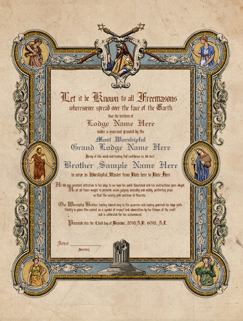 The Four Virtues Past Master Patent