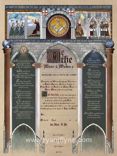 "The ""Ancient York""  Master Mason Patent"