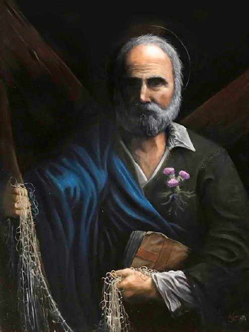 Saint Andrew, Oil on Canvas, 2019