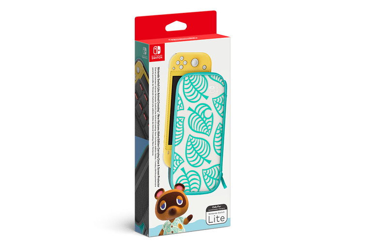 Nintendo Switch Lite Animal Crossing: New Horizons Aloha Edition Carrying Case & Screen Protector